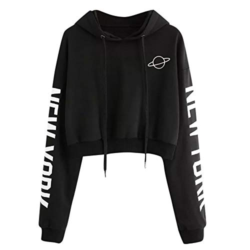 Women Sweatshirt Hoodies Sweater,Teen Girls Long Sleeve Letter Print Sweatshirt Casual Hooded Pullover Tops Blouse