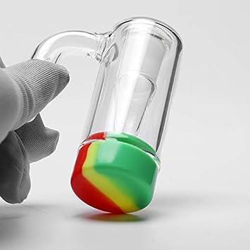 Design A RORA Espesor de Vidrio Ash Catcher Contenedor de Silicona con Hembra Macho 14mm Junta Bubbler Ashcatcher para Vidrio Bongs Tuber/ía de Agua