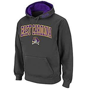 Mens NCAA East Carolina Pirates Pull-over Hoodie (Charcoal) - 3XL