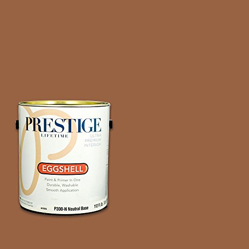 (Prestige, Browns and Oranges 2 of 7, Interior Paint and Primer In One, 1-Gallon, Eggshell, Leather)