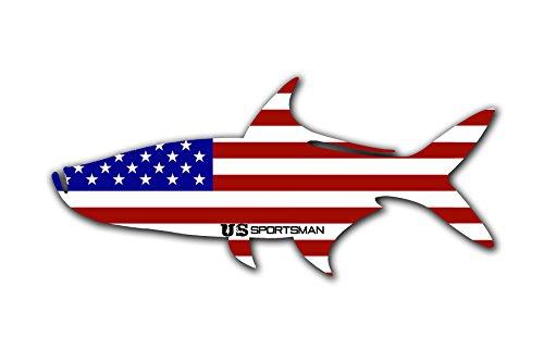 US Sportsman USA Flag Tarpon Decal