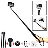 Selfie Stick, Foneso Ultra Compact Durable Selfie Monopod with Tripod for iPhone 6s/6s Plus/6/6 Plus, iPhone 4 5 5s 5c, Android Smartphones
