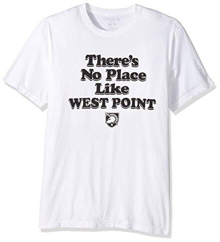 NCAA Army Black Knights Men's Organic Seaweed Ink Short Sleeve Crew Neck T-Shirt, X-Large, White ()