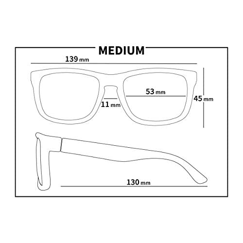 f821736c3d778 KZ Gear - FLOATING SUNGLASSES - Medium Frame - Classic Modern Shaped -  Polarized UV400 Lenses