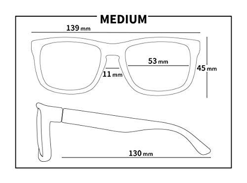 f79ffd889e63 KZ Gear - Medium Frame - Classic Modern Shaped - Floating Sunglasses -  Polarized UV400 Lenses