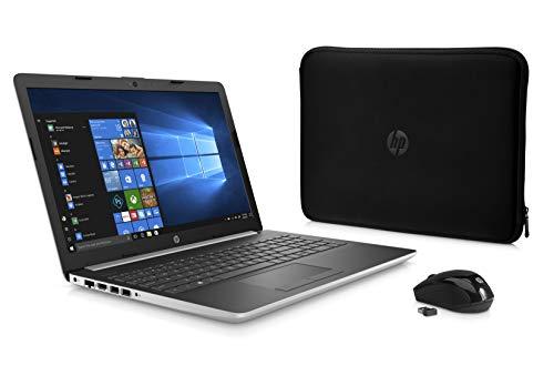 HP High Performance Laptop PC 15.6-inch HD Display AMD E2-9000e Processor 4GB DDR4 RAM 500GB HDD WIFI HDMI Bluetooth Webcam Sleeve&Mouse Windows 10 - Natural Silver (I5 4gb)