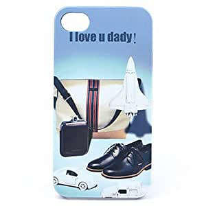 ABS I Love Daddy Back Case for iPhone 4/4S