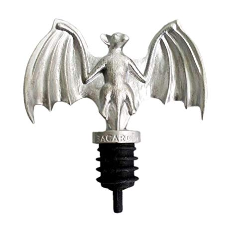 Bacardi Rum Pewter Bat Bottle Spout Pourer