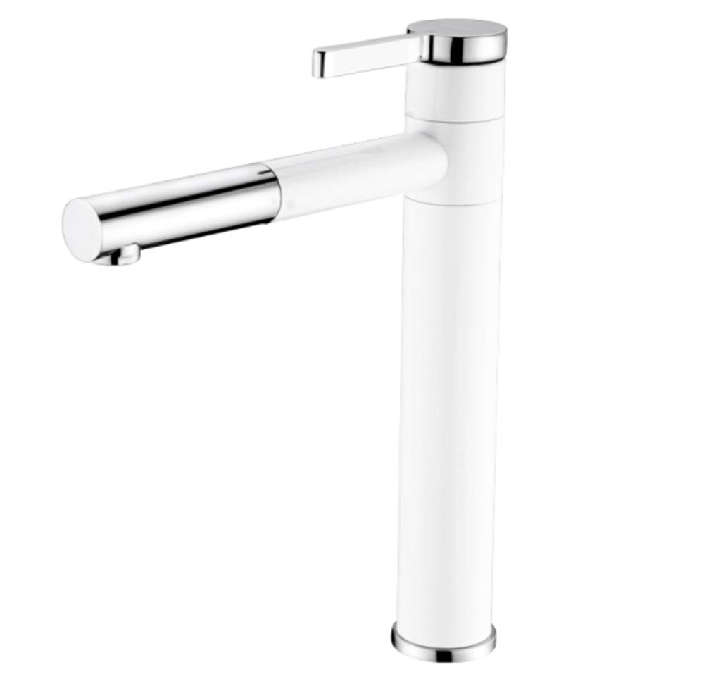 Pull Out The Pull Down Stainless Steelbathroom Basin Faucet All Copper Hot and Cold Single Hole Faucet Toilet Stage Washbasin Bathroom Cabinet Heightened Faucet