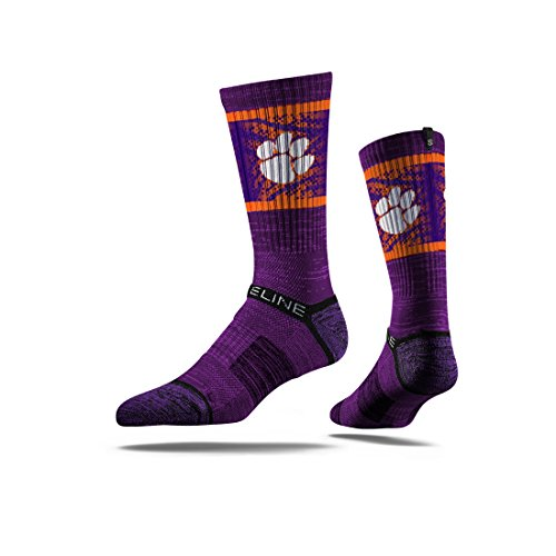 Premium College Football and Basketball Officially Licensed NCAA Athletic Fan Socks. Size Mens 5-13 The Most Comfortable Sock on Earth Worn by Elite Players in The NFL, NBA, and MLB. From Strideline.