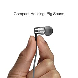 GGMM Alauda Lifetime Hassle Free Warranty Light Weight & Sporty In Ear Noise Isolating Metal Earbuds Headphone w/ Tangle-Free Cable, 3-Button Remote, Volume Control& Mic. Compatible all Apple product