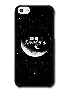 MMZ DIY PHONE CASETake Me to Neverland Peter Pan Disney Movie Quote case for iphone 5/5s