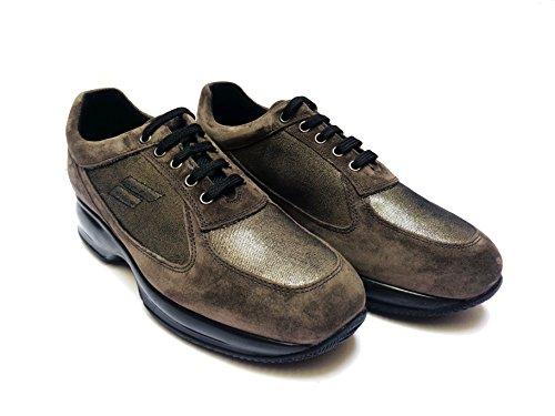 FRAU - Zapatos de cordones de ante para mujer pelo de visón 39