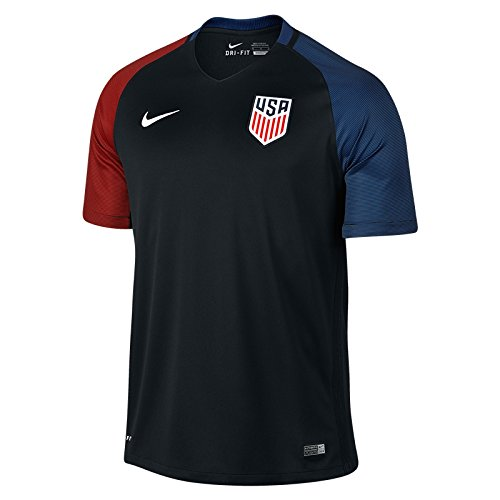 Youth Away Replica Jersey - Nike Youth United States Away Stadium Soccer Jersey (Black) (Medium)