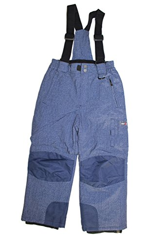 (Weatherproof 32 Degrees Boy's Charcoal Zip-Off Suspender Snow Pants (Navy Denim, Small)