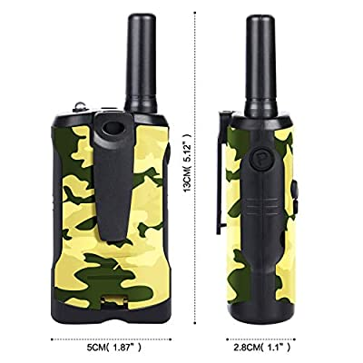 Peradix Walkie Talkies Kids Two Way Radio Toys, 3 Miles Long Range UHF Portable 22 FRS/GMRS Channels Best Gifts for Kids with Built in Flashlight (Camo, Pack of 2): Toys & Games