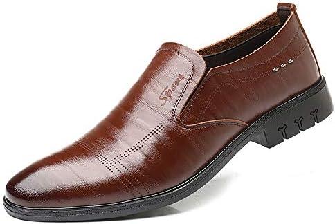 男性用フォーマルシューズスリップオンスタイルPUレザーシンプルピュアカラーファッションイギリススタイルオックスフォードシューズ 快適な男性のために設計