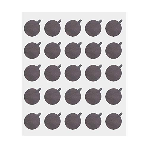 Eyelash Extension Adhesive Aluminum Foil Glue Pallet Sticker Pads,0.8 Inch Diameter (Small-300 Pads, 10 Sheets)