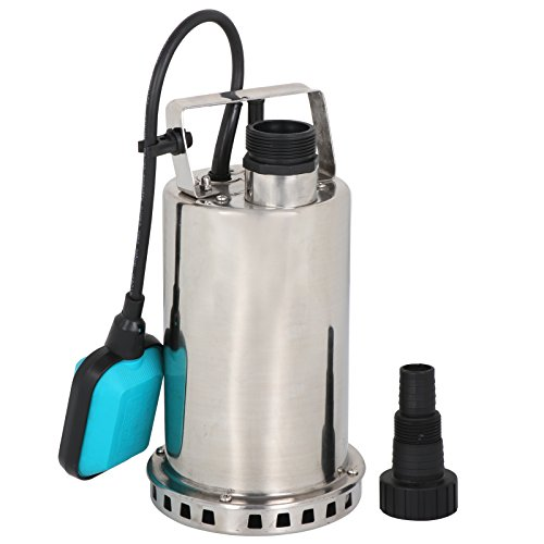 SUPER DEAL Submersible pump Stainless Steel Sump Pump Dirty/Clean Water Pump Pool Utility Pump w/26ft Cable and Float Switch (Stainless Pump Steel Sump)