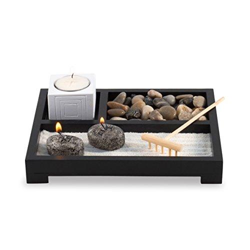 Pajoma 30010 Deko Buddha-Set Puro, L 20,5 x B 20,5 x H 6 cm