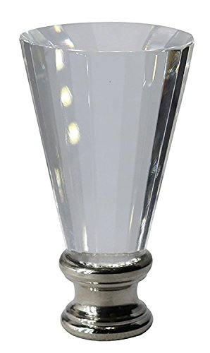 mpet Lamp Finial, Brushed Steel Base (Brushed Steel Base)