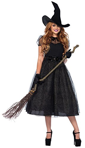 Spell Caster Costumes (Womens Halloween Costume- Witch Darling Spellcaster Adult Costume Medium)