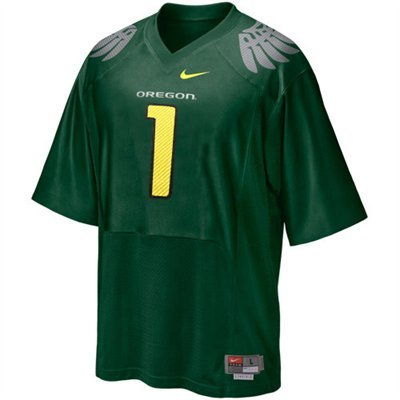 Nike Oregon Ducks #1 Preschool Replica Football Jersey - Green (4)