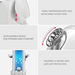 Hangsun Face Steamer Professional Cool and Hot Facial Mist Sprayer FS260 Nano-ionic Sauna Home Spa Humidifier Personal Skin Care with Aromatherapy Diffuser for Pores Acne Blackheads