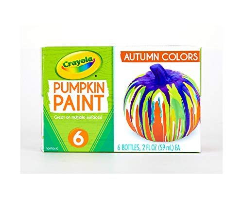 Crayola Pumpkin Paint Set Acrylic Paints in Autumn Colors, Halloween Decorations, 6Count]()