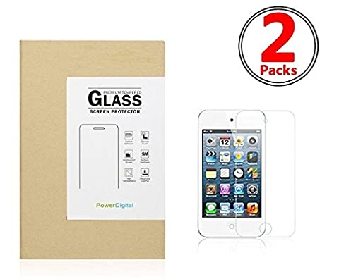 PowerDigital Tempered Glass Screen Protector for Apple iPod Touch 4th Generation [Tempered Glass] Highest Quality Premium Anti-Scratch Bubble-free Reduce Fingerprint No Rainbow Washable Screen Protector Easy Install Product with 1 Year Replacement Warranty [1-Pack,0.33mm,2.5D Rounded Edges] [2 (Ipod 4 Screen Glass)