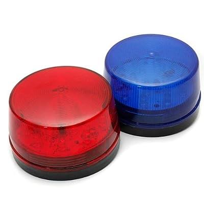 12V LED Security Alarm Strobe Signal Warning Lamp Blue Red Flashing Light.