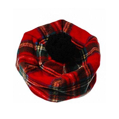 Edinburgh 100% Lambswool Scottish Tartan Classic Tammy Hat Stewart Royal (One Size) - Scottish Lambswool