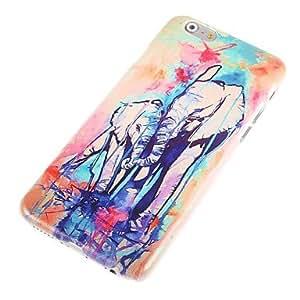 DK_Watercolor Elephants Design Hard Case for iPhone 6