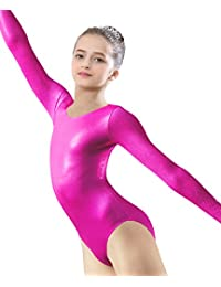 Arshiner Girl's Basic Gymnastics Long Sleeve Leotard