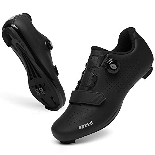 SANYES Men's Cycling Shoes Breathable Road Bike Mountain Bike SPD/SPD-SL Compatible Peloton Shoes