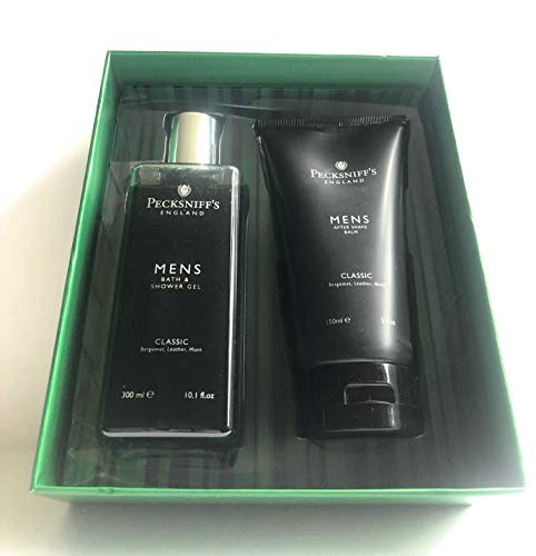 - Pecksniff's Classic Mens Shower Gel And After Shave Set