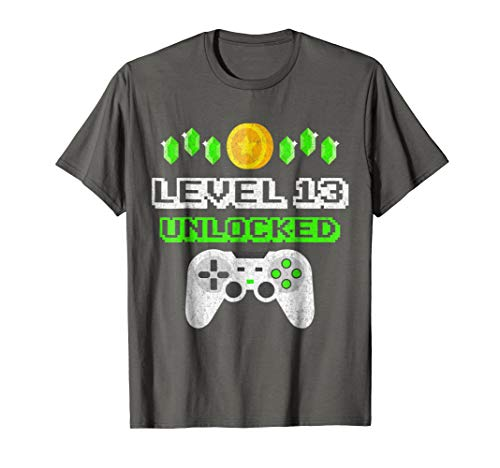 Level 13 Unlocked - Funny 13 Year Old Gamer Birthday T-Shirt