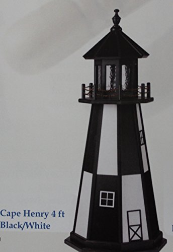 Amish Made Lighthouse Cape (Amish-Made Poly Lighthouse - Cape Henry, VA Replica, 6' Tall)