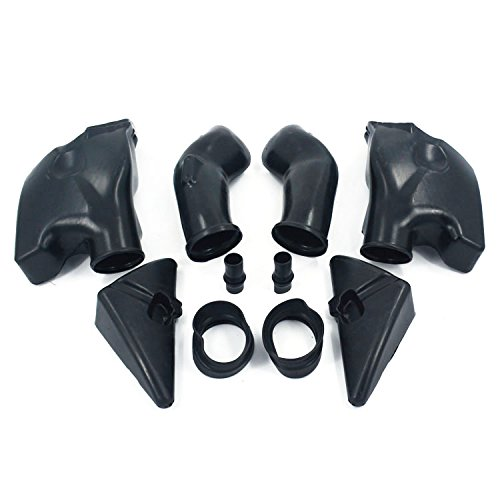 An Xin Motorcycle Black Ram Air Intake Tube Duct Left Right Fit For Honda CBR600RR F5 2005 2006: