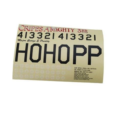 Hangar 9 Decal Sheet,Cripes A'Mighty, P-51 60 Blue Nose ARF, HAN242026