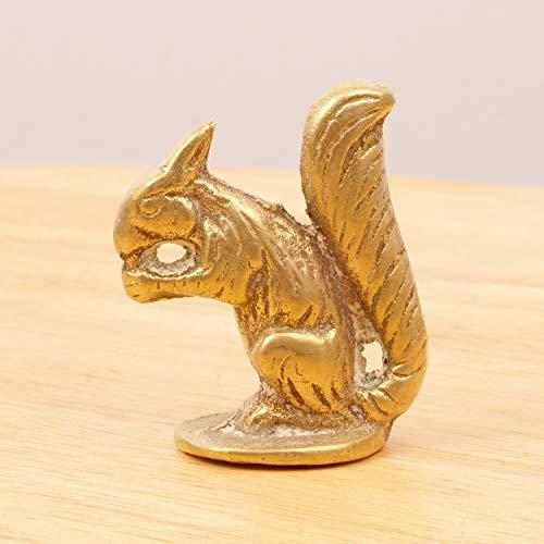 Restored by UKARETRO Squirrel Holding a nut || Vintage Heavy Solid Brass Figurine || Brass Figurine (Brass Squirrel)