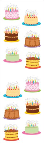 Mrs. Grossman'S Stickers-Birthday Cakes ()