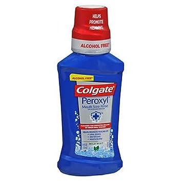 Colgate Colgate Peroxyl Mouth Sore Rinse Alcohol-Free Mild Mint, Mild Mint 8 oz Pack of 3