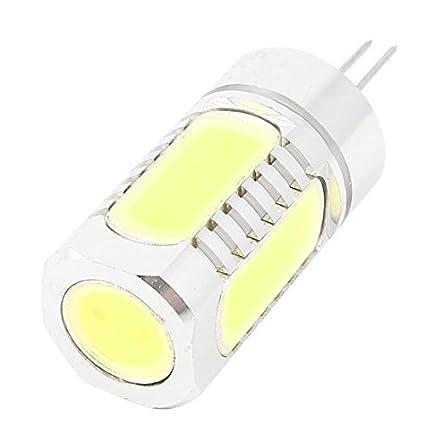 Bombilla eDealMax Home Hotel 550-800LM ahorro de energía G4 7W COB 5 LED de luz blanca pura 12V DC - - Amazon.com