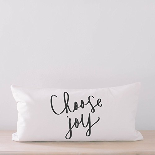 Lumbar Pillow - Choose Joy, home decor, wedding gift, engagement present, housewarming gift, cushion cover, throw pillow