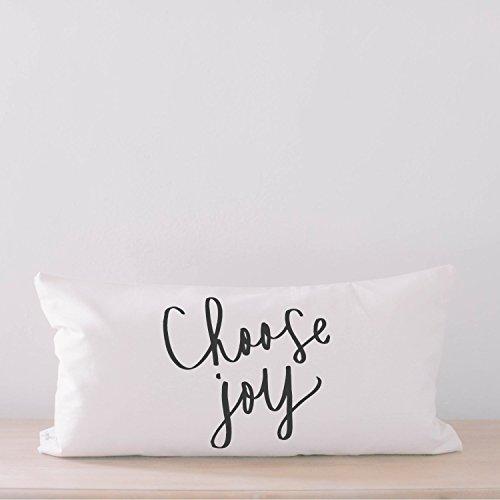 Lumbar Pillow - Choose Joy, home decor, wedding gift, engagement present, housewarming gift, cushion cover, throw pillow