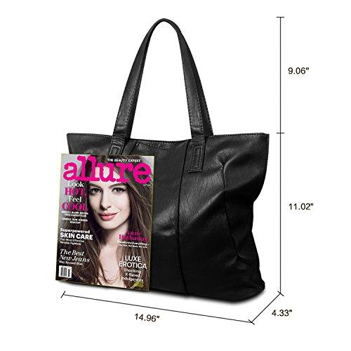 Review Women Tote Bag,ZZSY Leather Top Handle Satchel Handbag Shoulder Bag for Ladies Girls