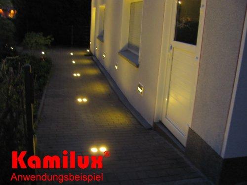10 x LED Bodenstrahler Aussenbeleuchtung sparsam Nachtbeleuchtung Wegbeleuchtung LWB67 Gordo 230V eckig IP67 warmweiss