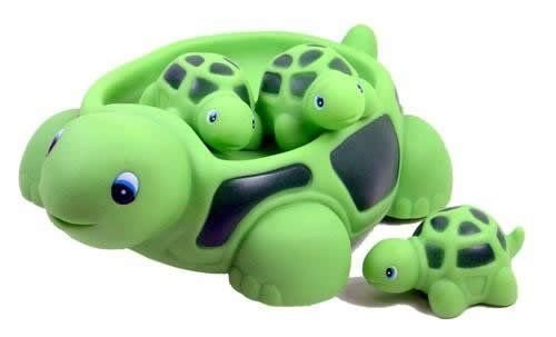 Turtle Baby Toy - Playmaker Toys Turtle Family Bath Sets(set of 4) - Floating Bath Tub Toy