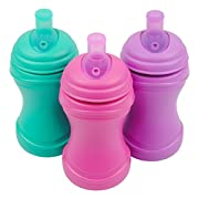 Re-Play Made in the USA 3pk Soft Spout Sippy Cups for Baby and Toddler - Aqua, Bright Pink, Purple